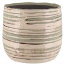 Keramik Kübel Saigon, D16cm, H13cm, für TO14, düne